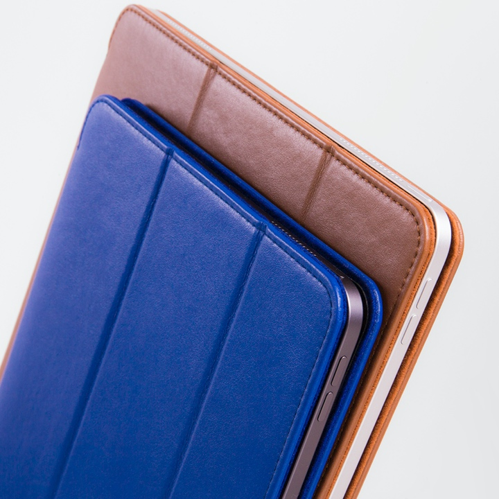 12,9 Zoll iPad Pro (2019) Hülle mit Smart Cover - Königsblau  - Glattleder